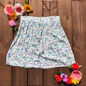 Vintage Everly floral highwaisted skirt
